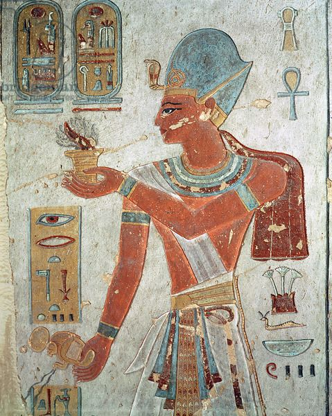 Ramesses ii dressed for war wall painting egyptian for Ancient egyptian mural paintings