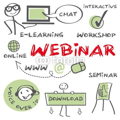 Webinar Concept, education