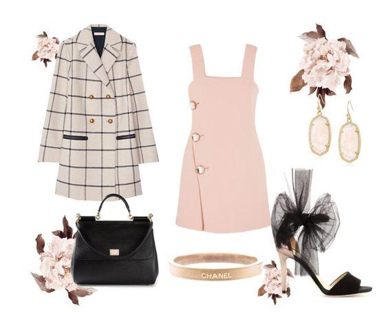 """lady chic"" by supabebek ❤ liked on Polyvore featuring Marni, Tory Burch, Dolce&Gabbana, Kendra Scott, Chanel, Pink, minidress and checkprint"