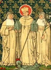 February 16th - St. Gilbert of Sempringham: He was the only Englishman to found a conventual order, mainly because the Abbot of Cîteaux declined his request to assist him in organising a group of women who wanted to live as nuns, living with lay brothers and sisters, in 1148.In the end he founded a double monastery of canons regular and nuns.