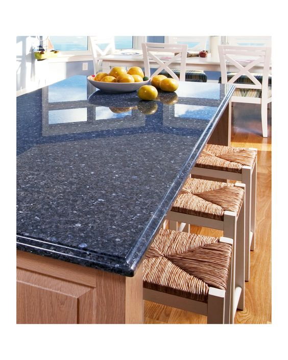 blue countertops for kitchens Beautiful Blue Kitchen Countertops