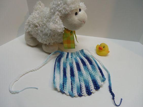 Hand Crocheted Newborn Boy Ascot Bib in by Tinastreasureisland, $6.50