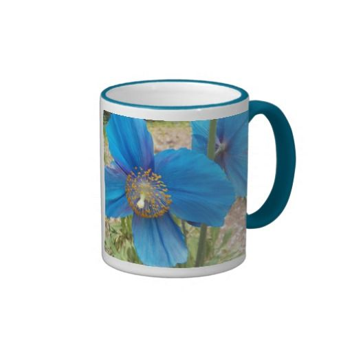 Blue Poppies Floral Coffee Mug SOLD on Zazzle #flowers #poppies #drinkware