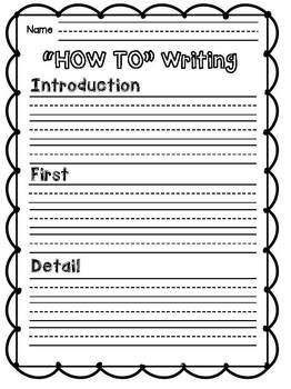 free writing template for 2nd grade free writing