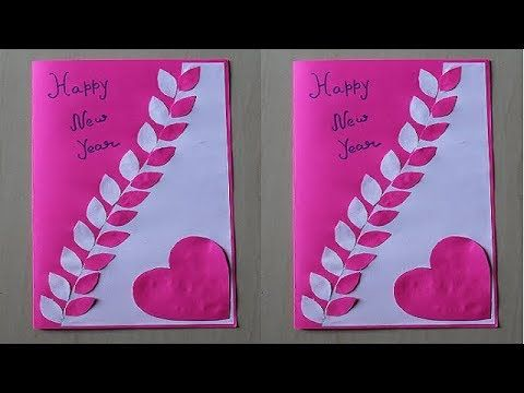 Diy How To Make New Year Card Handmade New Year Card Idea New Year Greeting C New Year Cards Handmade Happy Birthday Cards Handmade Birthday Card Drawing