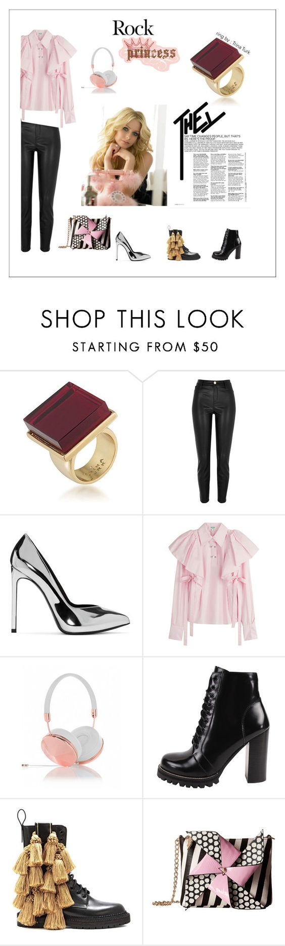 """""""Inspiration : for Avril Lavigne"""" by thisismedika ❤ liked on Polyvore featuring Trina Turk, River Island, Yves Saint Laurent, Kenzo, Frends, Jeffrey Campbell, Burberry and Betsey Johnson"""