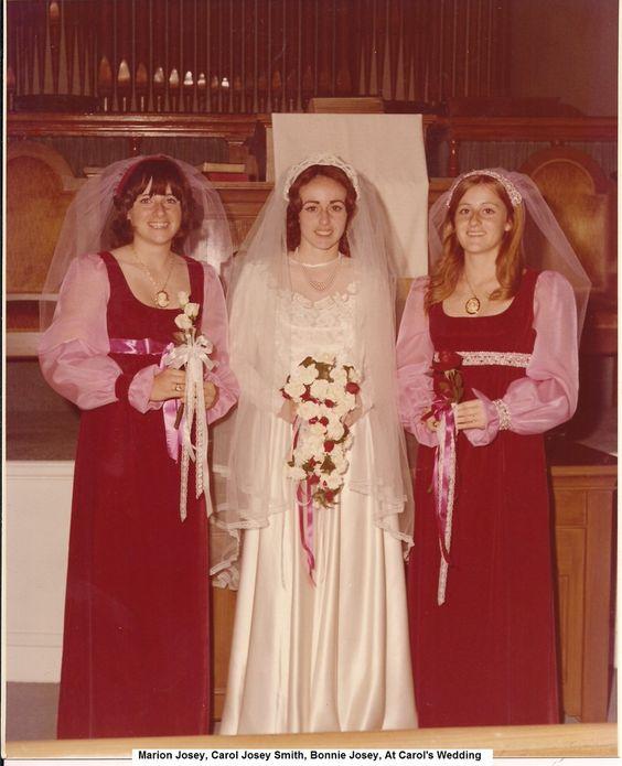 A, Marion, Carol & Bonnie at Carol's Wedding.jpg: