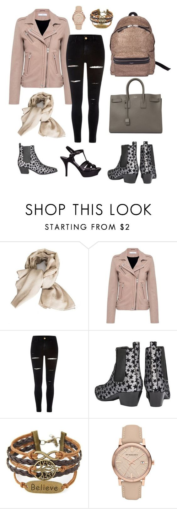 """""""Dlrboutique.com Leather and Fashion"""" by kstyle661 ❤ liked on Polyvore featuring Valentino, IRO, River Island, Yves Saint Laurent and Burberry"""