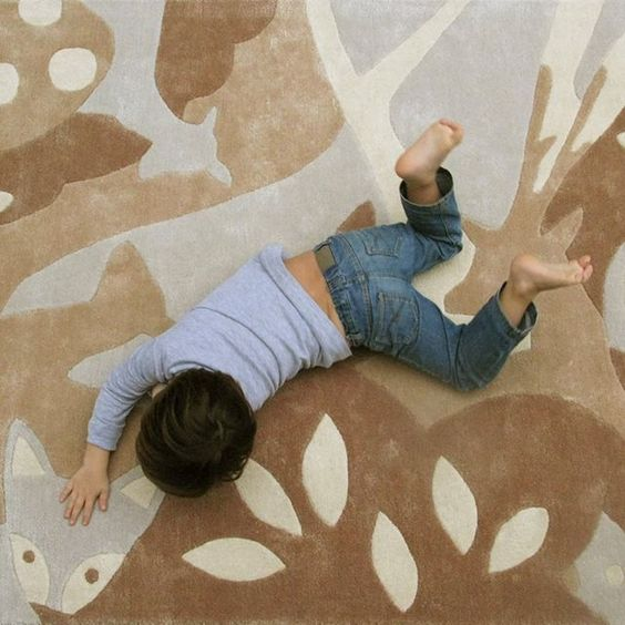 FORET en Laine et soie, par Art for Kids, Tapis pour enfant ART FOR KIDS | La Redoute Mobile