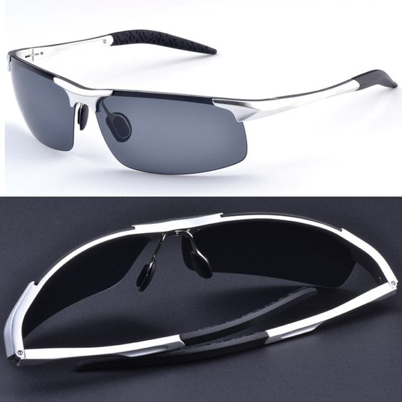 $18.66 (Buy here: http://appdeal.ru/750b ) 2016 Sale Gafas De Sol =silver= Aluminium Titanium Magnesium Battle Field Style Polarized Uv400 Uv100% Mens Sunglasses for just $18.66