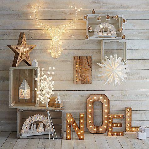 Buy John Lewis Noel Christmas Light Sign, Soft White Online at johnlewis.com