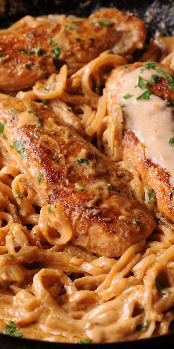 Spicy Chicken Lazone Pasta