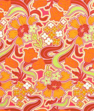 Amy Butler Disco Flower Tangerine Fabric - $8.95   onlinefabricstore.net