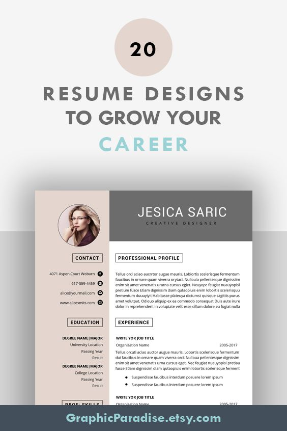 Professional Resume Template Instant Download 3 Page Resume Etsy Resume Template Professional Resume Template Teacher Resume Template