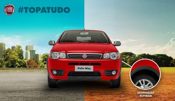 Com a suspensão elevada #TopaTudo do Novo Palio Fire Way 2015, toda estrada parece asfaltada: http://bit.ly/1pciKWt pic.twitter.com/lNQ4Cj3AGI