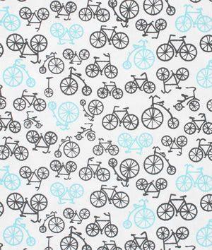 Michael Miller Bicycles Gray Fabric - $8.9 | onlinefabricstore.net: