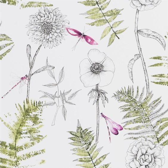 Acanthus Moss Wallpaper Designers Guild wallpaper designs
