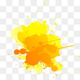 Yellow Ink Brush Strokes Creative Brush Effect En 2020 Mancha De