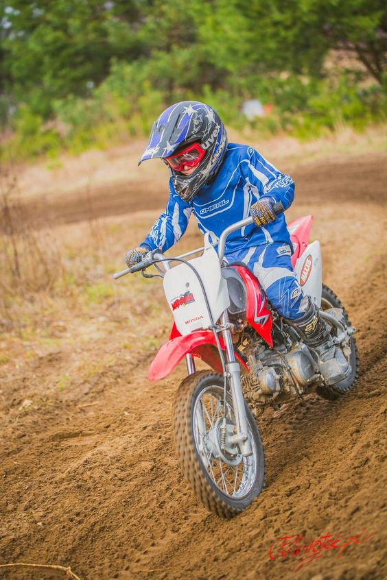 Czym skorupka za młodu .... :D #cross #enduro #kid #motorbike