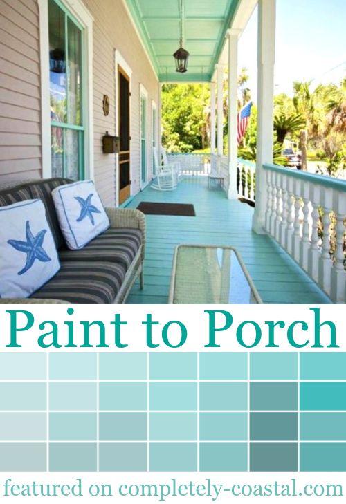 Coastal Porch Paint Ideas Exterior