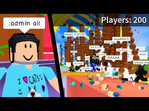 I Gave 200 People Admin Commands Roblox Youtube In 2020
