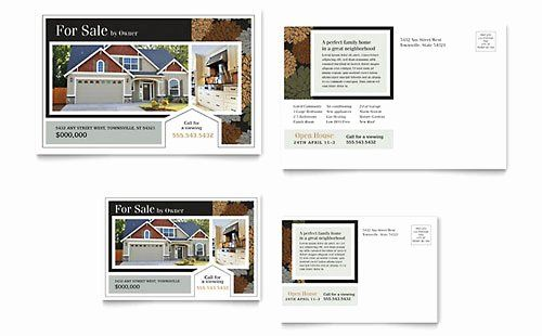 Microsoft Word Postcard Template Luxury Postcard Templates Indesign Illustrator Publisher Word Real Estate Postcards Postcard Template Postcard Template Free