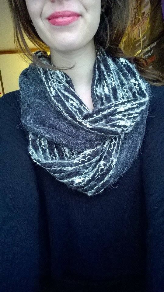 That's an infinity scarf I made from scraps.
