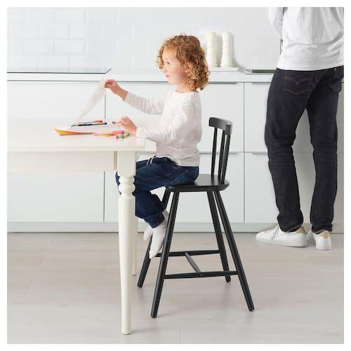 Agam Chaise Junior Noir Ikea Chaises De Salle A Manger Noires Chaise Haute Enfant Chaise Haute Design