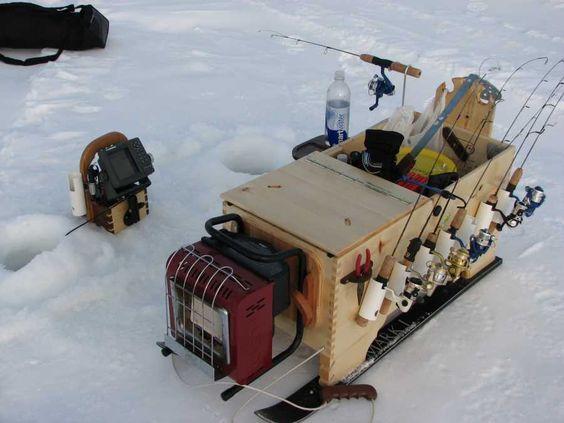 Ice fishing sled ice fishing and fishing on pinterest for Ice fishing sled ideas