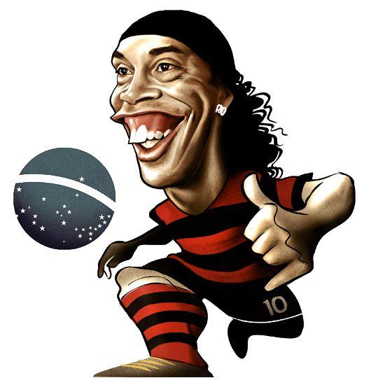 Ronaldinho caricature