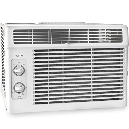 Home 5000 Btu Window Mounted Air Conditioner Compact 7 Speed Window Ac Unit Small Quiet Mechanical Controls 2 Cool And Fan Settings With Installation Kit Leaf Window Air Conditioner Best Window