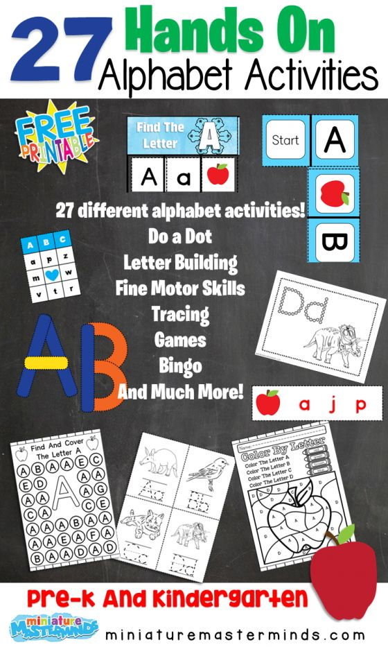 27 Free Printable Hands On Alphabet Activities Over 400 Pages Included Alphabet Activities Free Printables Alphabet Alphabet games for kindergarten pdf