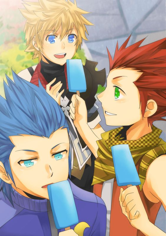 so like when Lea saw Roxas for the first time did he remember? and or did he flip out! oh and what about Isa?!?!
