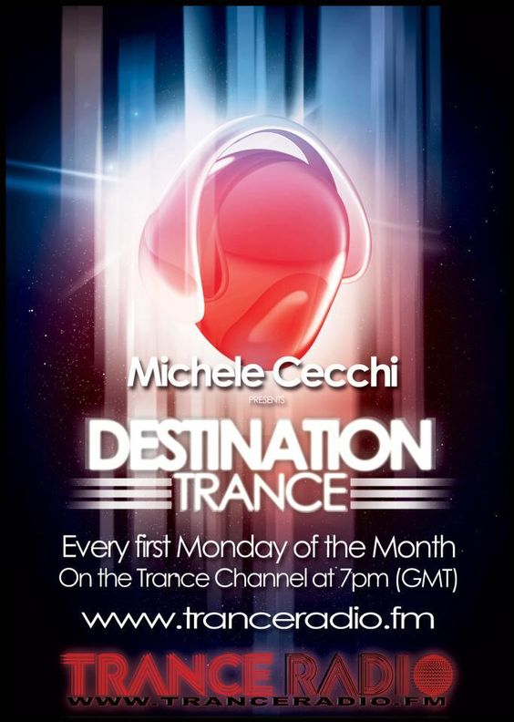 """Destination Trance By Michele Cecchi, Chapter 1    For all the trance lovers of the world, Michele Cecchi in collaboration with UVOT.net creates a new radio show called """"Destination Trance"""" on air each first Monday of the month on www.tranceradio.fm at 7pm (GMT). Your presence aboard is required!"""