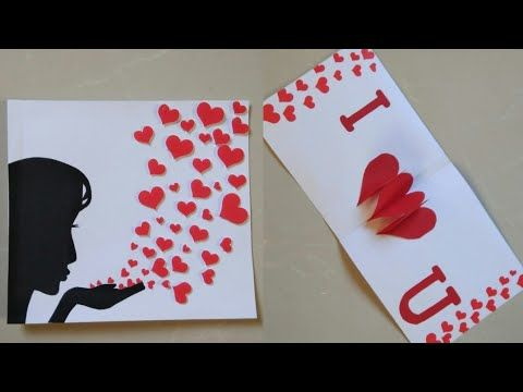 Diy Popup Card Valentine S Day Card Idea Greeting Card For