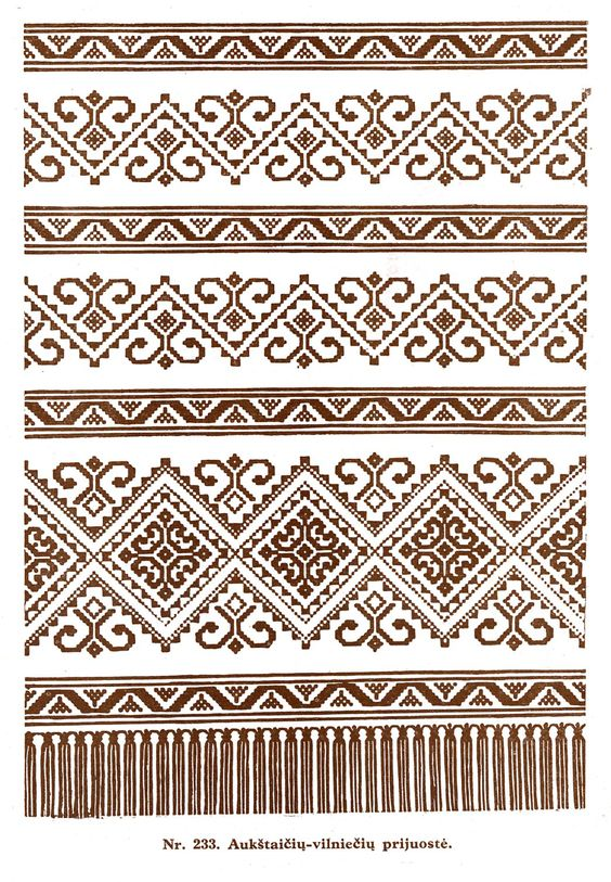 Lithuanian Knitting Patterns : Lithuanian weaving pattern Weaving Pinterest Europe, Weaving patterns a...