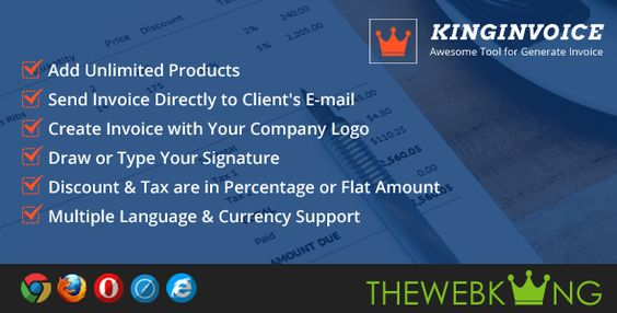 KingInvoice - Awesome Tool for Generate Invoice  KingInvoice is - custom invoice maker