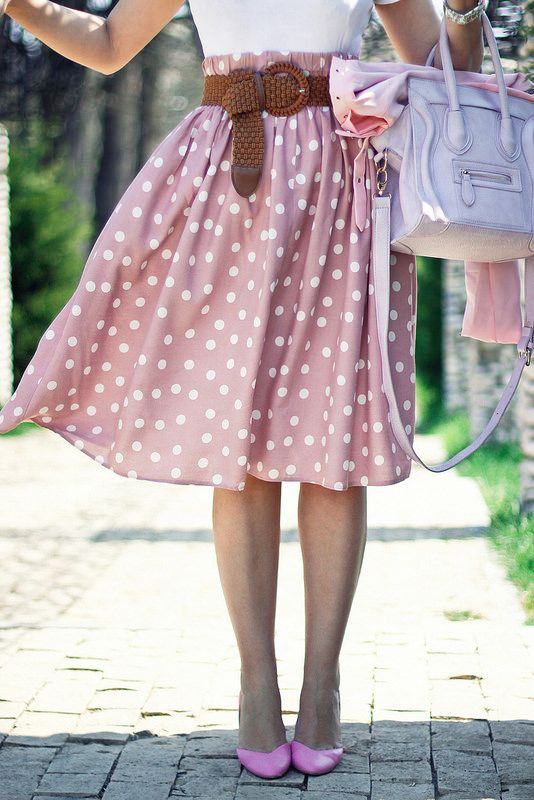 Polka dot skirt.: