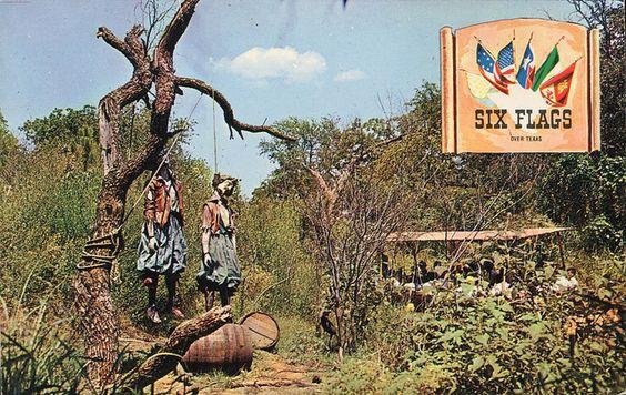 crazy Six Flags Over Texas postcard