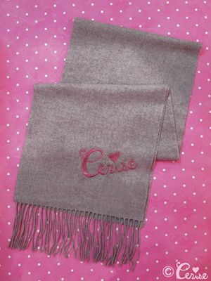 Cerise cashmere muffler(light gray) - Cerise Web Store