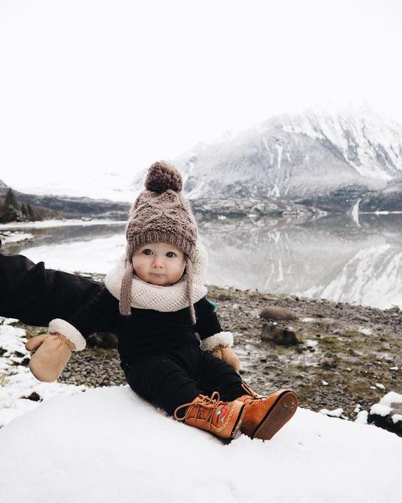 escapade à la #montagne _ #enfant #fashion #bébé