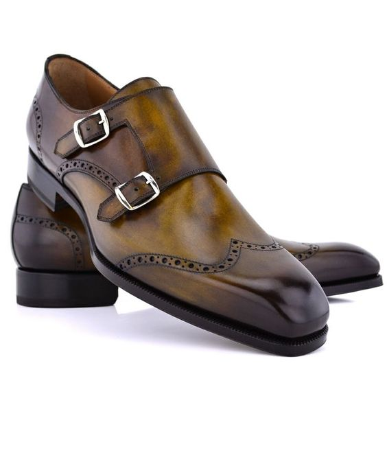 Di Bianco | Zen Zero Double Monk Strap | Shoes | Men's - mens ...