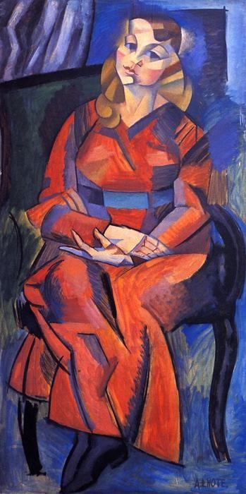 'Portrait de Marguerite', peinture de Andre Lhote (1885-1962, France)