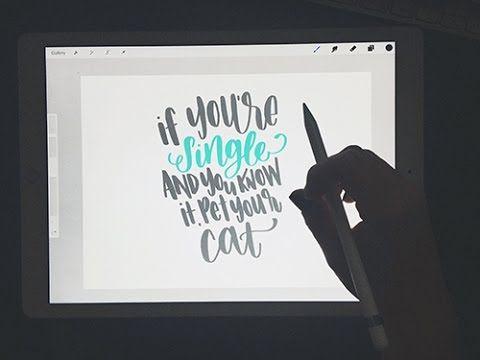 Ipad Mini  Procreate Hand Lettering