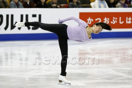 Mao Asada (JPN) during practice for the 2016 ISU Ladies World Championship at TD Garden in Boston, Massachusetts. (Photograph by Fred Kfoury III/Icon Sportswire)