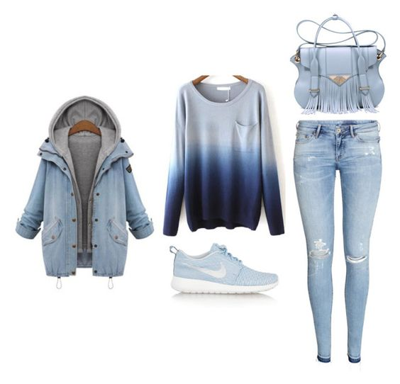 """""""Outfit Idea by Polyvore Remix"""" by polyvore-remix ❤ liked on Polyvore featuring NIKE, Ella Rabener and H&M"""
