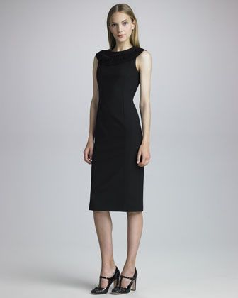 Macrame-Neck Dress by RED Valentino at Neiman Marcus.