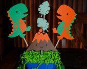 Dinosaurs & Volcano Centerpiece - Trendycupcakeshop