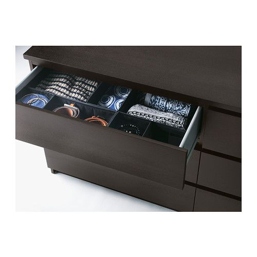 byrå malm 6 lådor ~ malm chest of 6 drawers, blackbrown  running, smooth and