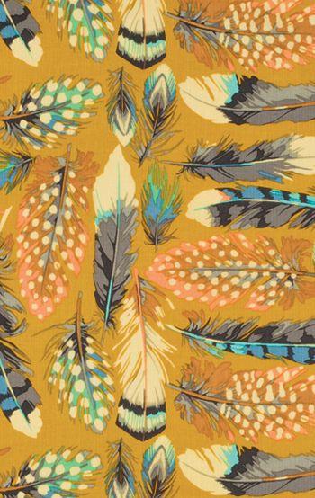 "Martha Negley ""Farmington"" Feathers, gold"